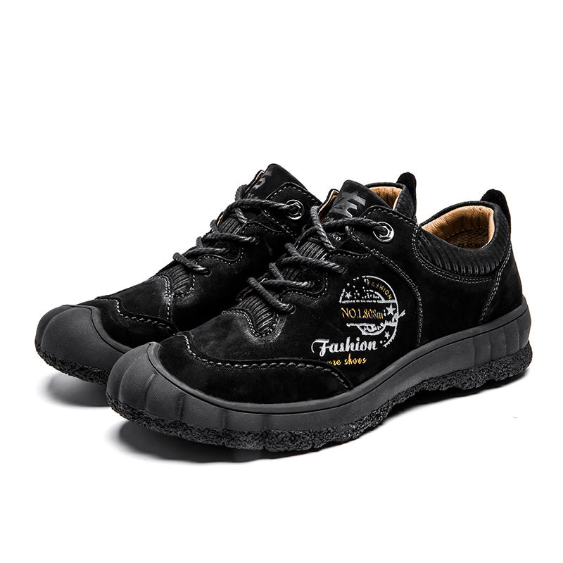Hot Sale Waterproof OEM Outdoor Shoes Customized Walking Hiking Shoes With Real Leather