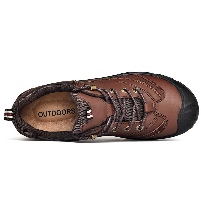 Hot Sale OEM Slip On Hiking Shoes Customized Casual Hiking Shoes with Real Leather