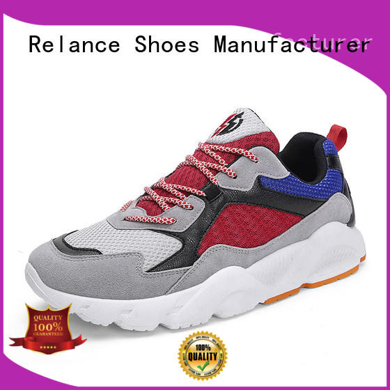 Relance knit fabric upper sports running shoes factory for women
