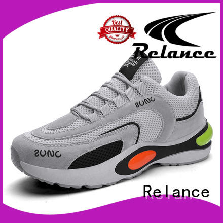 Relance knit fabric upper boys running shoes with good price for women