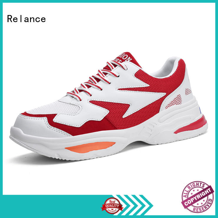 Relance knit fabric upper sport shoes price supplier for all seasons