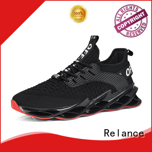 Relance knit fabric upper running shoes for flat feet customized for women
