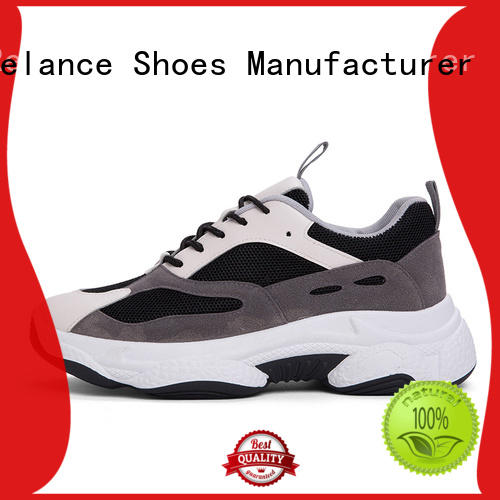 knit fabric upper sports running shoes factory for men